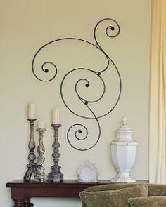 Iron Scroll Wall Art wall+art+above+door    over the door wall plaque ~ letter p