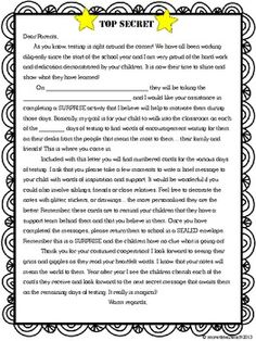 Fsa Testing Encouragement Letter To Child From Parents