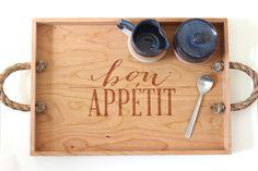 Bon Appetit Wooden Serving Tray