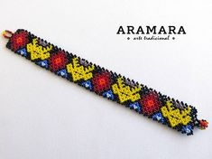 Etsy :: Your place to buy and sell all things handmade Seed Bead Bracelets, Seed Beads, Mexican Jewelry, Hair Beads, Mexican Art, Bandeau, Bead Art, Beaded Jewelry, Deer