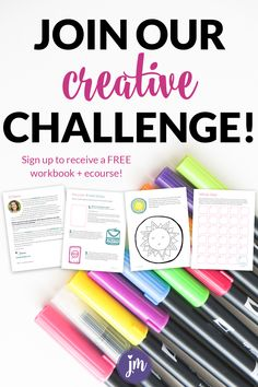Join us for our 30 day creativity challenge called You'll receive a printable workbook + emails to help you get back into your creative groove. Business Writing, Craft Business, Business Quotes, Business Ideas, Diy Craft Projects, Diy Crafts To Sell, Diy Crafts For Kids, Sell Diy, Kids Diy