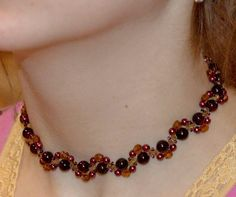 Free pattern for necklace Smuzi | Beads Magic  #Seed #Bead #Tutorials