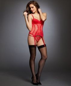 27531305b01 The L Agent by Agent Provocateur Rosalyn Basque Bustier in red is a super  sexy