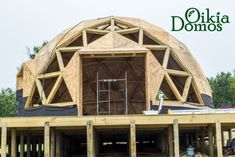 30 Geodesic Dome Ideas for Greenhouse, Chicken Coops, Escape Pods, etc. Foam Dome, Yurt Home, Geodesic Dome Homes, Small Swimming Pools, Tree House Designs, Interior Design Sketches, Dome House, Earthship, Design Case