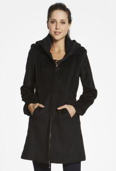 Rib Trim Hooded Coat Suede Jacket, Vest Jacket, Puffer Vest, Stay Warm, Double Breasted, Parka, Fashion Forward, Raincoat, Stylish