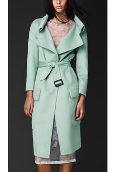 Burberry Double Angora and Wool Shell Coat, $2995, available at Burberry.