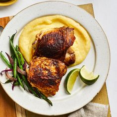 Spicy Chicken and Polenta Quick Pasta Recipes, Seafood Recipes, Easy Dinner Recipes, New Recipes, Chicken Recipes, Cooking Recipes, Simple Recipes, Baked Polenta, Polenta Recipes