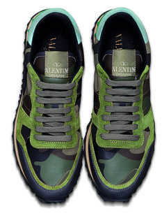 Valentino camouflage sneakers.