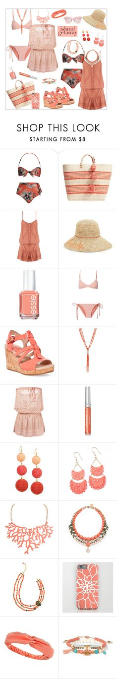 """""""Chic Island Getaway: Ibiza"""" by rossie-rz ❤ liked on Polyvore featuring ADRIANA DEGREAS, Mar y Sol, Melissa Odabash, Echo, Essie, Sperry, New Directions, Sisley, Humble Chic and Ellen Conde"""
