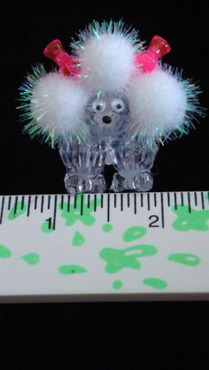Miniature Poodle Dog Figurine Statue by cardinalcouple on Etsy, $8.00