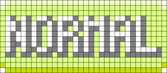 Pokemon Normal Type Perler Bead Pattern / Bead Sprite
