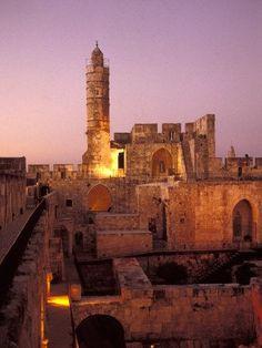 La Torre de David (en hebreo: מגדל דוד) es una antigua ciudadela de la ciudad vieja de Jerusalén, erecta junto a la puerta de Jaffa. Su construcción tuvo como objetivo paliar uno de los puntos débi…