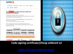 Best information about Code signing certificate @ https://www.sslpoint.com/