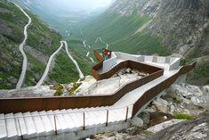 Proiettato nel vuoto, il belvedere progettato da Reiulf Ramstad arkitekter