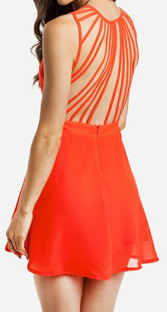 Coral cage back dres Would love in black or off white