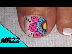 DECORACION DE UÑAS- FLOR#12 -DECORATION OF NAILS- FLOWER#12-NR22💅❤ - YouTube Pedicure Nail Art, Body Piercings, Star Vs The Forces Of Evil, Toe Nails, Youtube, Nail Art Flowers, Nails Plus, Designed Nails, Simple Toe Nails