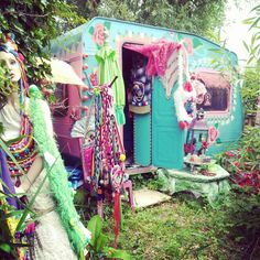 Gypsy caravan with an unfortunately creepy mannequin