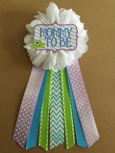 Little Monsters Baby Shower corsage pin Mommy-to-be by afalasca