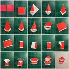 Head to the webpage to see more on Origami Paper Craft Origami Cards, Paper Crafts Origami, Origami Easy, Geometric Origami, Origami Design, Diy And Crafts, Christmas Crafts, Crafts For Kids, Christmas Origami