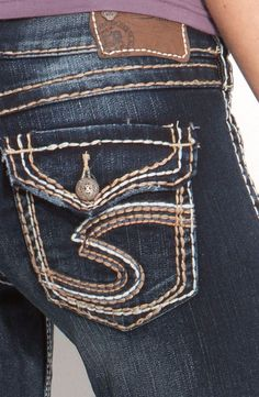 SILVER JEANS SALE Cheap Low Flap Distressed Pioneer Bootcut Jean ...