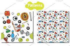 SPORT- big set + pattern (vector) by pashigorov on @creativemarket