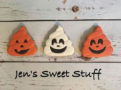 Jen's Sweet Stuff:  Fall. Halloween.   Poop emoji cookies.   Adorable.  ♡