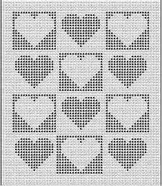 46 Ideen häkeln Decke Muster geometrische Garne, Knit blankets are one of our favorite weaves that we see in our grandparents. with knitted blankets that have a nostalgic air, you can travel to the past in y Filet Crochet, Crochet Motifs, Crochet Chart, Crochet Stitches, Bobble Crochet, Crochet Heart Blanket, Baby Afghan Crochet, Blanket Yarn, Knitted Baby Blankets