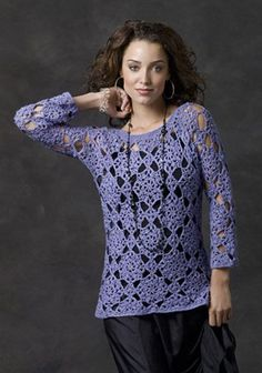 Sorrel River Sweater - oh my goodness, I am so going to have to make this one. It'd look so cute over a tank and with blue jeans!