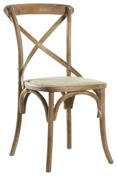 Parisienne Caf Chair - Limed Grey - traditional - Dining Chairs - Zentique