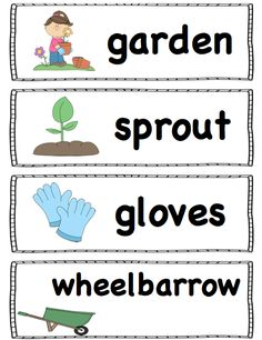 For the word wall, pocket chart or writing center! Senior Activities, Spring Activities, Reading Activities, Work Activities, Easter Activities, Summer Bulletin Boards, Spring Words, Spring School, Kindergarten Science