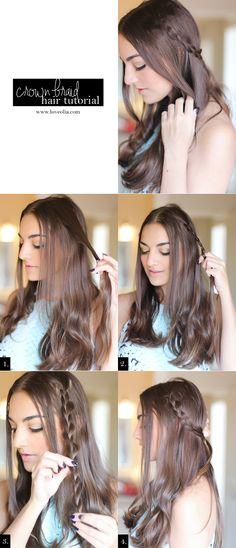 Crown Braid Hair Tutorial #StyleItYourself #ad