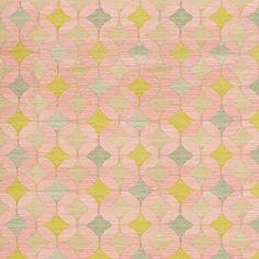 ALHAMBRA ROSE, rug by Vanderhurd (example of rose + aqua + turquoise + celadon in a colorway)