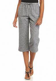 Kim Rogers® Linen Crop Pants