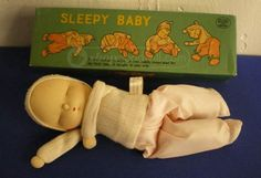 1957 Sleepy Baby Doll Shackman Japan Sleepy Doll In