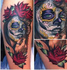 Un tatuaje con muchos detalles que refleja el orgullo mexicano