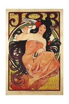 Job', 1898, Printed by F, Champenois Giclee Print by Alphonse Mucha at Art.com