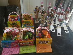 Easter gift baskets  Candy baskets for kids Wine and beer glasses for adults