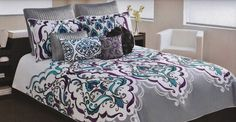 Grey bedding sets queen will provide people with warmth and comfort. By combining comforter set in the decor of your bedroom, it is not only guaranteeing Bedding Sets Grey, Comforter Sets, Comforters, Teal Bedding Sets, Bed, Purple Bedding, Grey Bedding, Luxury Bedding, Grey And Teal Bedding