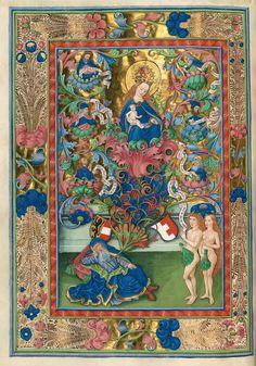 Adán y Eva, Misal de Salzburgo, 1499,