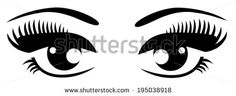 vector black eyes with long lashes