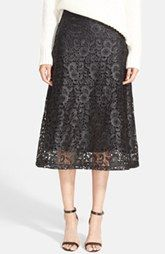 A.L.C 'Kennedy' Coated Lace Overlay Skirt