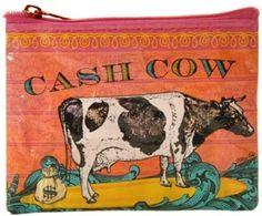Blue Q Coin Purse Cash Cow