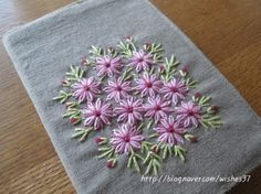 Wonderful Ribbon Embroidery Flowers by Hand Ideas. Enchanting Ribbon Embroidery Flowers by Hand Ideas. Hand Embroidery Videos, Embroidery Flowers Pattern, Hand Work Embroidery, Simple Embroidery, Learn Embroidery, Hand Embroidery Stitches, Silk Ribbon Embroidery, Embroidery Art, Cross Stitch Embroidery