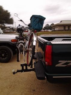 We want to be able to take our bikes for riding around campgrounds when we go camping, but the cost for a front-bumper bike rack is prohibitive as you would basically need a $200 hitch mount. I fou...