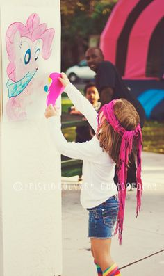 Event - My Little Pony Themed Birthday Party Great idea for pin the tail on the pony.