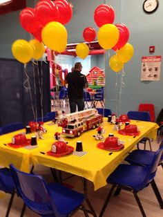 Ideas fire truck birthday party ideas kids fireman sam for 2020 Fireman Party, Firefighter Birthday, Fireman Sam, 4th Birthday Parties, Birthday Fun, Yellow Birthday, Fire Truck Birthday Party, Birthday Balloons, Birthday Ideas