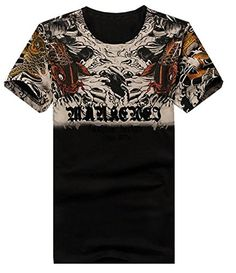 Generic Mens Short Sleeve Street Hip Hop Classic Crew Neck T-Shirt  The product is good quality and the new style is very fashion. And the material is comfortable, wear beautiful.   Material:cotton blend Size details:  US X-Small=China Medium:Length:25.59″(65cm), Bust:37.40″(95cm), Shoulder:17.32″(44cm);  US Small=China Large:Length:26.38″(67cm), Bust:39.37″(100cm), Shoulder:17.72″(45cm);  US Medium=China X-Large:Length:27.17″(69cm), Bust:41.34″(105cm), Shoulder:18.11″(46cm);  US Lar..
