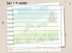 Give A Like For Printable Green Daily Calendars  Free Printable