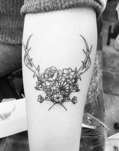 Nature inspired tattoo antlers 45 ideas - Nature inspired tattoo antlers 45 ideas Informations About Nature inspired tattoo an - Bull Tattoos, Elbow Tattoos, Body Art Tattoos, Tatoos, Deer Antler Tattoos, Deer Tattoo, Sleeve Tattoos For Women, Tattoos For Women Small, Grandparents Tattoo