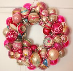 Vintage Christmas Wreath from Georgia Peachez